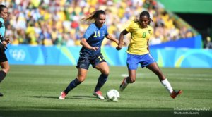 Women football Brasil vs Sweden