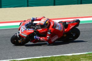 Mugello Italy 1 June 2019 Italian Ducati Team rider Andrea Dovizioso in action at 2019 GP of Italy of MotoGP on June 2019 in Italy